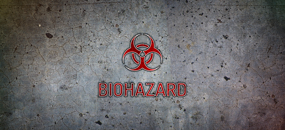 Logo prototypu gry planszowej Biohazard