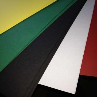 Papier kolorowy o wysokiej gramaturze - świetny do naklejania na nim wydrukowanych kart