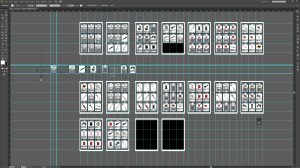 Projekt kart do gry w Adobe Illustrator - karty podzielone na arkusze A4, gotowe do druku
