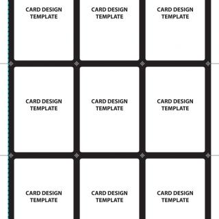 Sposób cięcia pierwszego arkusza z kartami